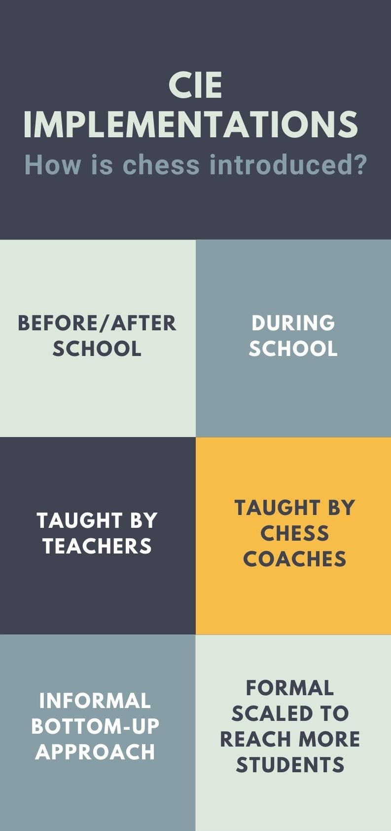 Types of Chess in School Programs